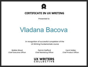 UX_writing_certificate_Vladana-Bacova