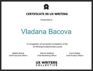 UX_writing_certificate_Vladana-Bacova